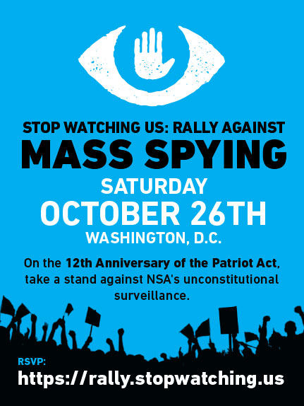Big rally against surveillance in DC this weekend