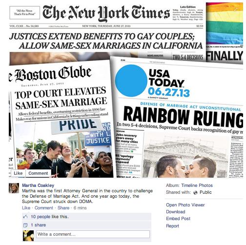 Coakley Facebook Fail
