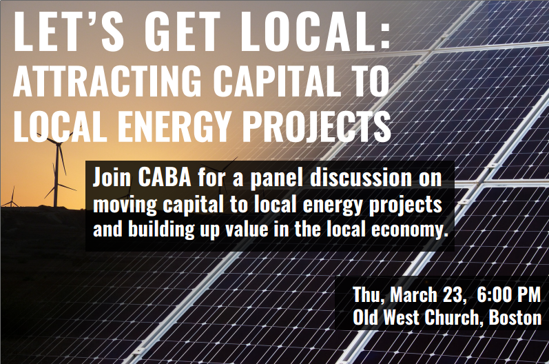 EVENT: Let's Get Local: Attracting Capital to Local Energy Projects