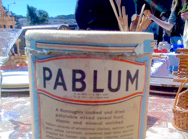 The top half of a carton of pablum.