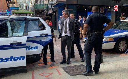 Prof. Nathan Phillips arrested at MassDEP, 10/2/2019