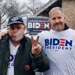 Biden Actually Delivers - Out In the Snow Today Making It Real Without Our Fingers to the Wind; Fred Rich LaRiccia and Terry McGinty canvassing in Goffstown, NH