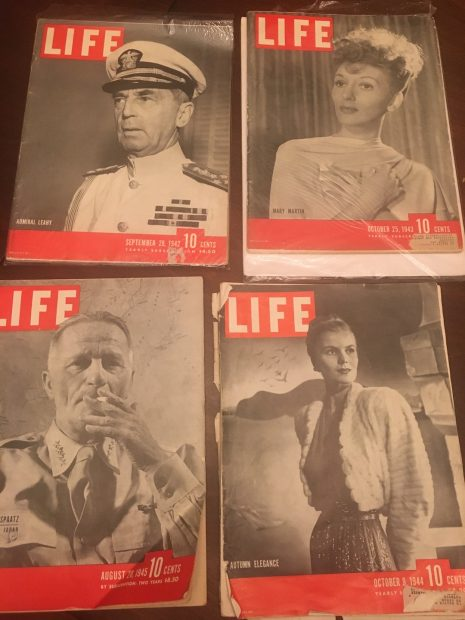 WWII era Life Magazine covers
