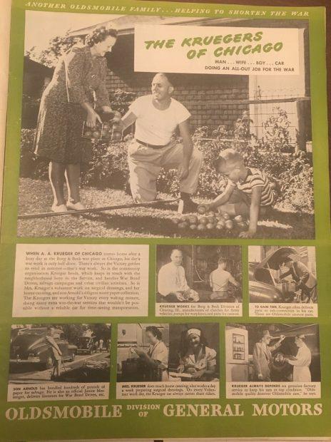 Oldsmobile ad, Life Magazine, 10/9/44