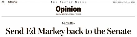 Boston Globe endorses Markey