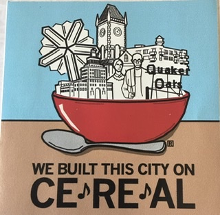 "Sticker: ""We built this city on CEREAL"""