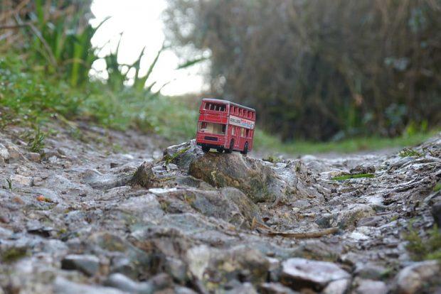 A bumpy rocky road