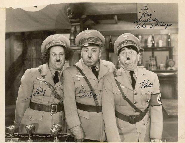 3 stooges dressed like Hitler