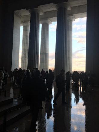 From the inside of the Lincoln Memorial, Dec 2019